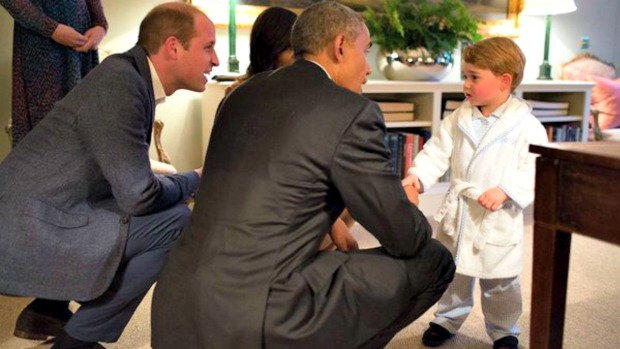 El principito en pijama conoció a los Obama
