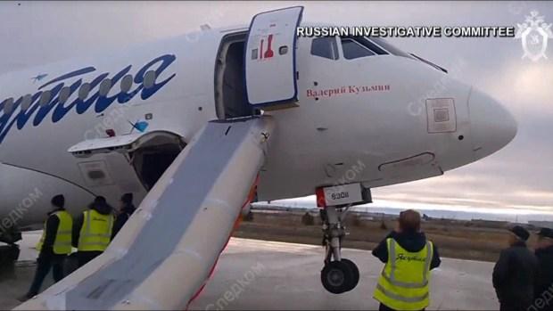Dramáticas imágenes de avión accidentado