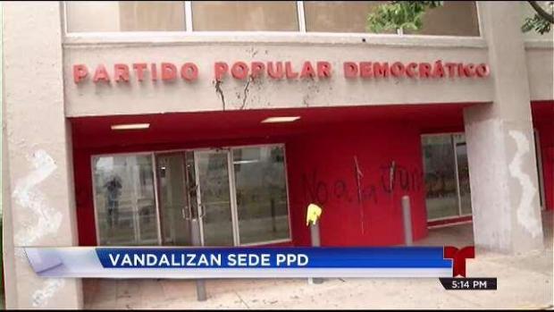 [TLMD - PR] Vandalizan sede del Partido Popular