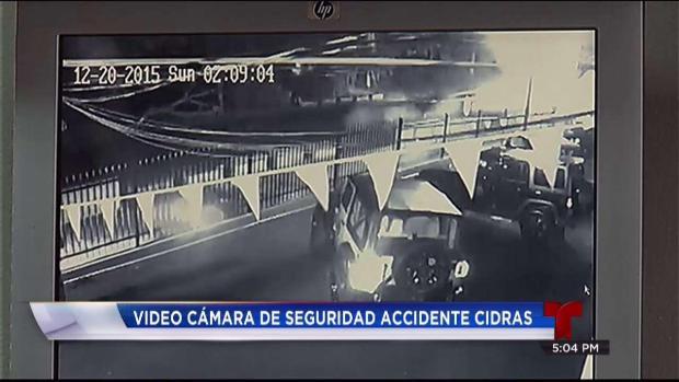 Grabación del aparatoso accidente en Cidra