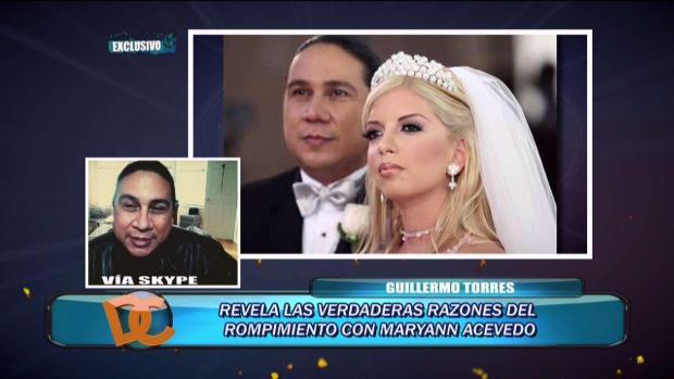 Guillermo Torres atraviesa por ruptura amorosa