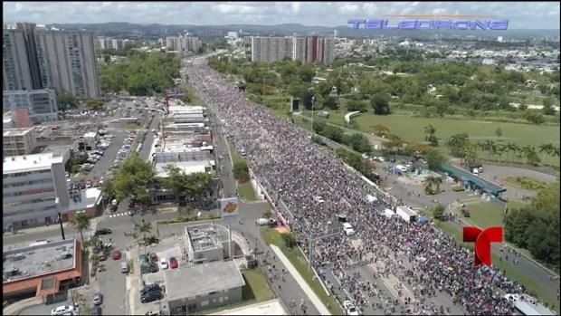 Así se vió la masiva protesta en el expreso Las Américas