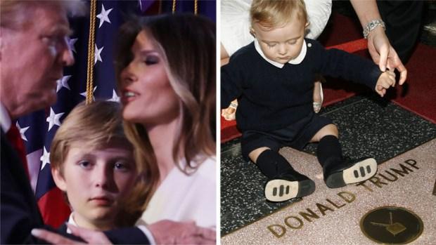 Barron Trump, primer niño en ocupar la Casa Blanca en 50 años