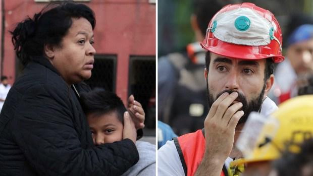 El miedo en sus ojos: en pijamas invaden calles tras alarma por sismo
