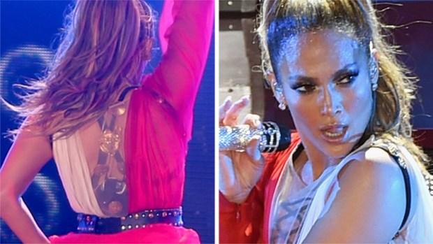 JLo sexy y coqueta en el escenario con Marc Anthony