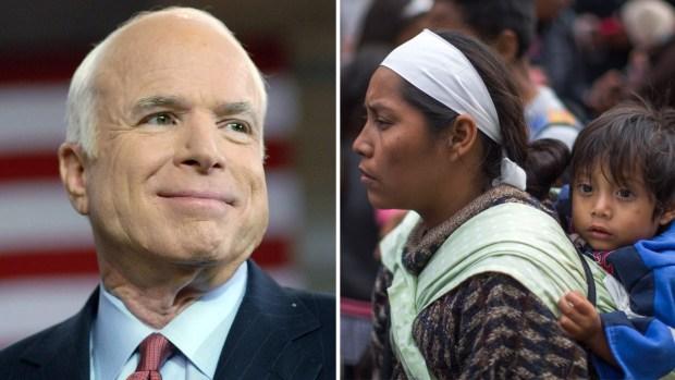McCain y los inmigrantes: cómo desafió a su partido por una reforma