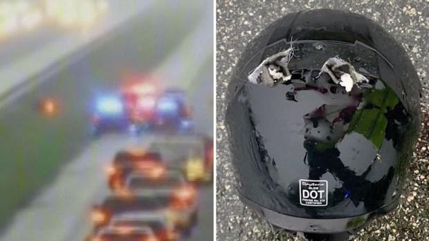 Letal: rayo fulmina a motociclista en la cabeza