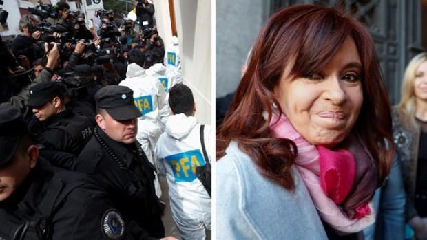 Argentina: registran las casas de expresidenta Fernández