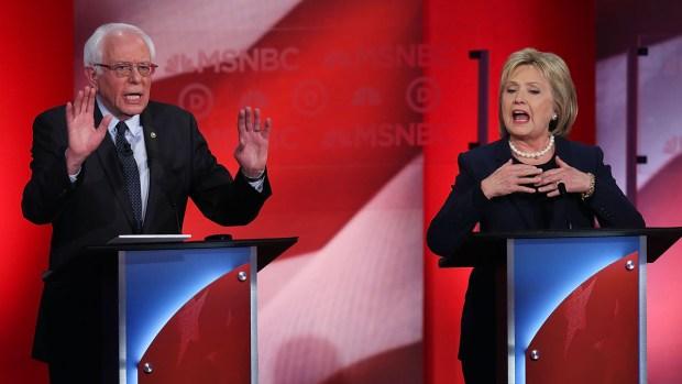 Los precandidatos demócratas a la presidencia