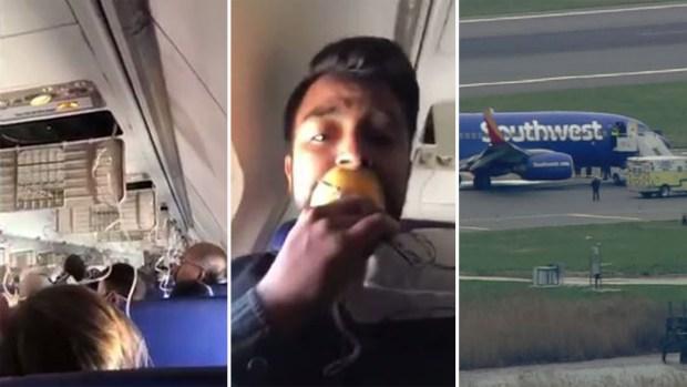 En video: pasajero de Southwest capta el aterrizaje de emergencia