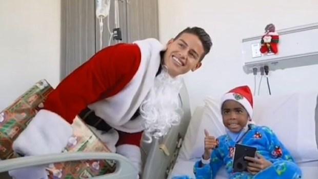 """[TLMD - LV] """"Santa"""" James sorprende a niños en hospital"""