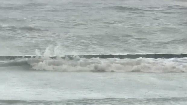 [TLMD - NATL] Fuerte oleaje en el lago Pontchartrain previo al huracán Barry