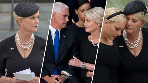 Hija de McCain lanza indirectas a Trump durante funeral