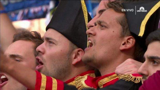 "[World Cup 2018 PUBLISHED] Se escucha ""La Marseillaise"" en la previa ante Dinamarca"