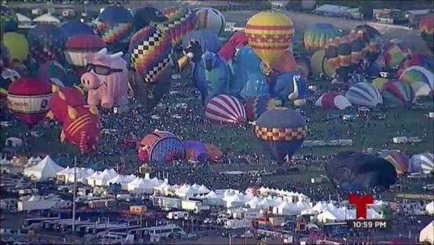 Espectacular despegue masivo de globos