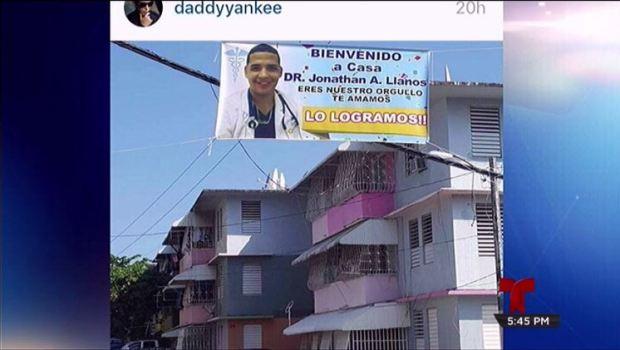 Yankee orgulloso de joven que creció en su mismo residencial