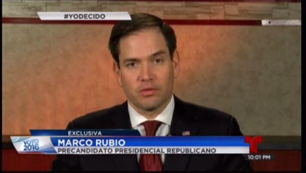 Marco Rubio cree en la bancarrota para la isla