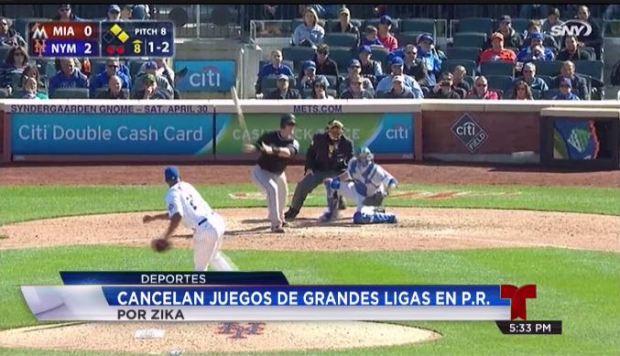 Cancelan juegos de Grandes Ligas por temor al zika