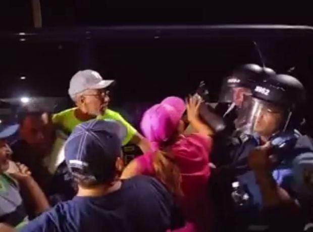 Policía realizó operativo en campamento contra cenizas en Peñuelas