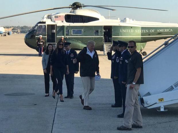 Así fue la corta visita de Trump a Puerto Rico