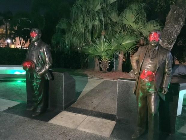 Tres arrestados por vandalizar estatuas