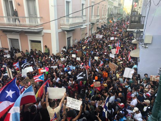 En imágenes: histórica manifestación exige la renuncia del gobernador de Puerto Rico