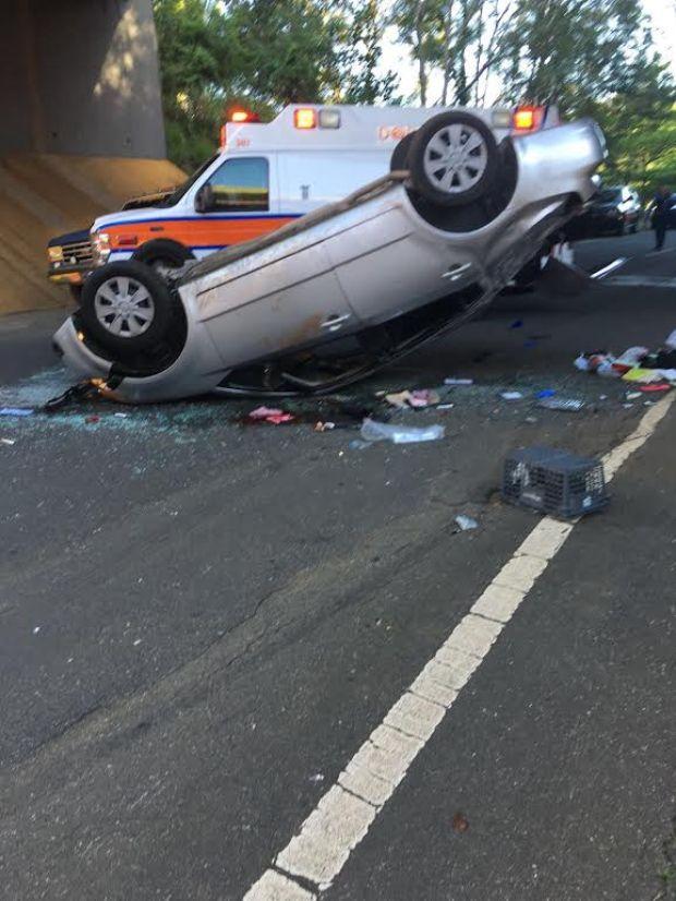 Fotos: accidente culmina con tres heridos