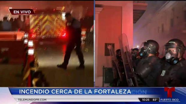 Fuego en Fortaleza interrumpe conferencia de prensa