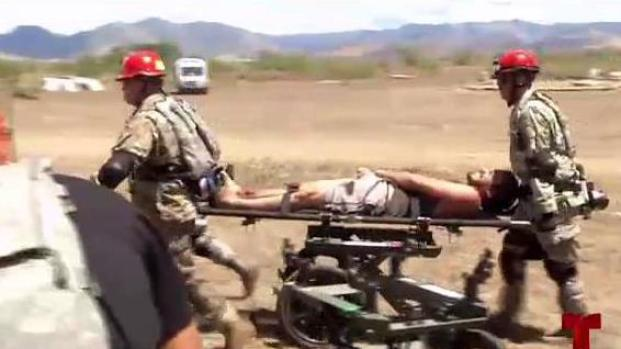 Guardia Nacional simula emergencias para entrenar efectivos