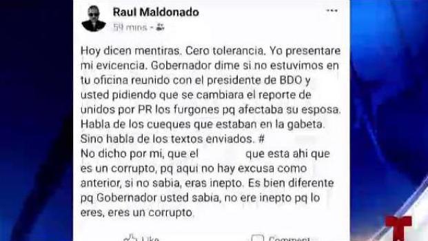 [TLMD - PR] Hijo de Raúl Maldonado arremete contra el Gobernador
