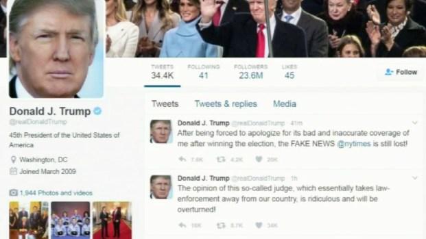 "Trump responde a ""cachetazo"" contra su veto migratorio"