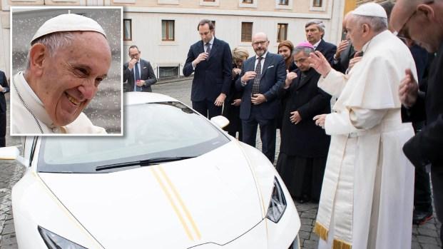 ¿Nuevo Papamóvil? El espectacular Lamborghini de Francisco