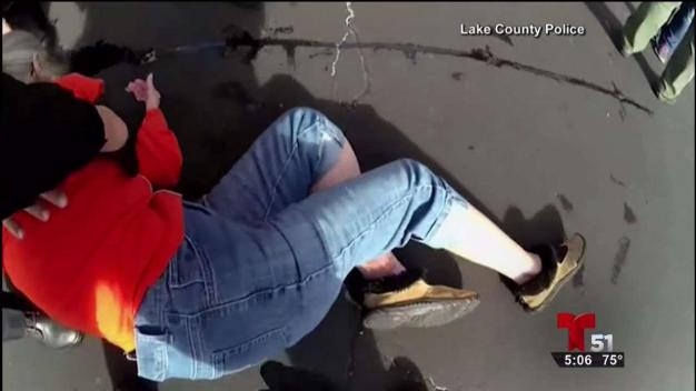 Anciana arrestada por negarse a ser desalojada