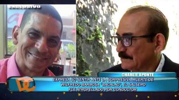 Charlie Aponte reacciona a muerte súbita de Bacalao