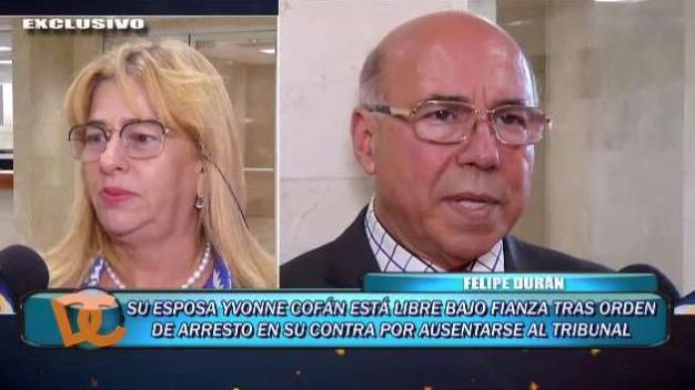 Felipe Durán reacciona al arresto de su esposa