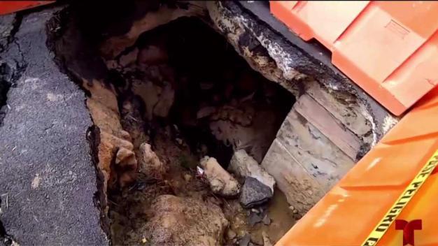 Inmenso cráter en Las Piedras amenaza a sus residentes