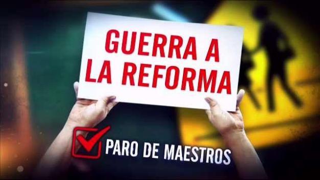 Maestros marchan contra la Reforma Educativa