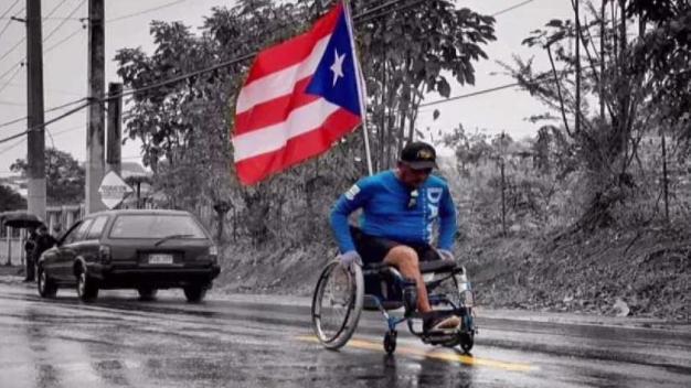 Mario Cruz realizó tramos de Da Vida en silla de ruedas