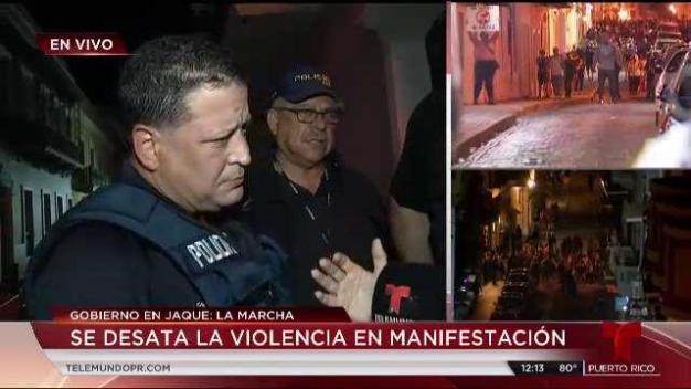 Primeras declaraciones de Policía tras caótico fin de manifestación