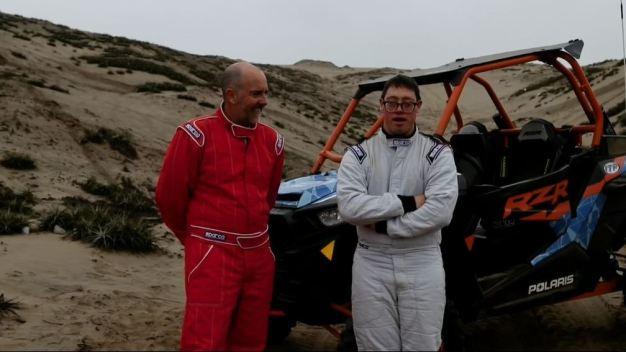 Tiene síndrome de Down y hará historia en el rally Dakar