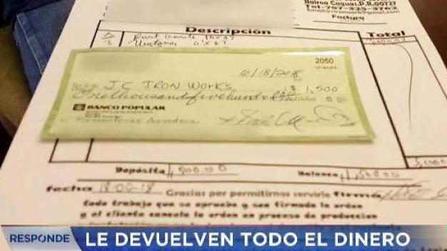 Telemundo Responde recupera dinero de consumidora