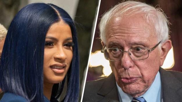Sanders graba video de campaña con Cardi B