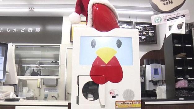 En video: el increíble robot que fríe pollos
