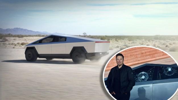¿A prueba de balas? Qué pena al presentar el nuevo Tesla