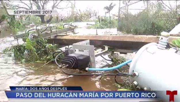 Las imágenes del huracán María