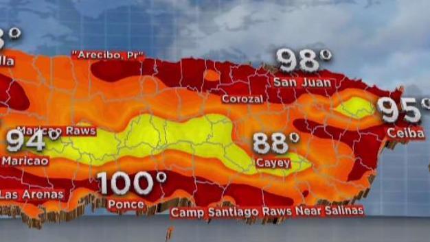 Sensación de calor en 100 grados para Ponce y Culebra