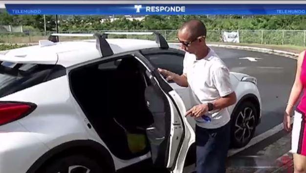 Estrena auto gracias a intervención de Telemundo