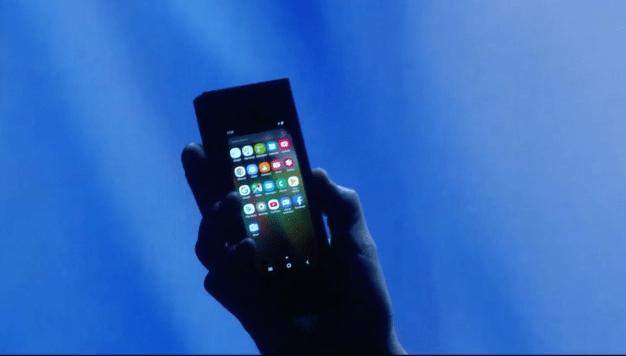 Así es el nuevo celular Samsung de pantalla plegable
