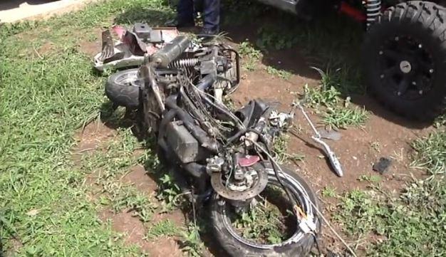 Menor de 14 años muere tras accidente de motora