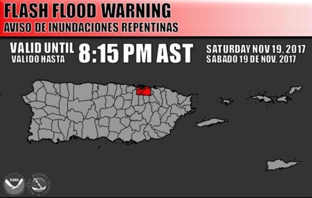 Aviso de inundaciones repentinas para varios municipios